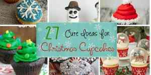 Cute ideas for Christmas Cup Cakes