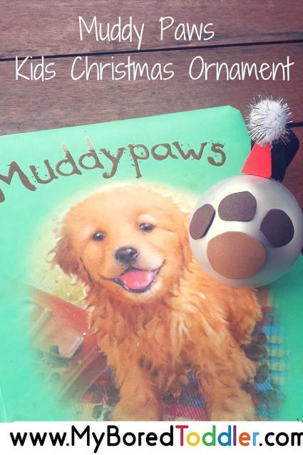 muddy paws christmas ornament pinterest