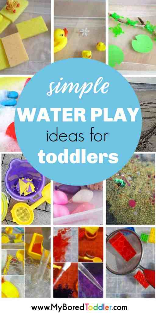Water play ideas for babies and toddlers