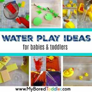 Water Play Activities for Babies and Toddlers