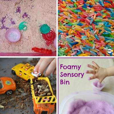 sensory bins for babies and toddlers image 1