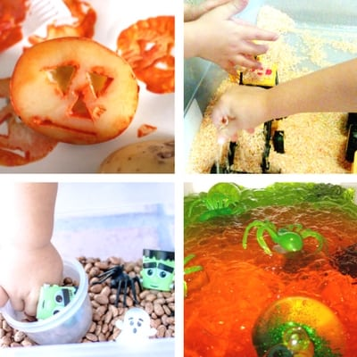 Halloween Sensory Play for babies and toddlers