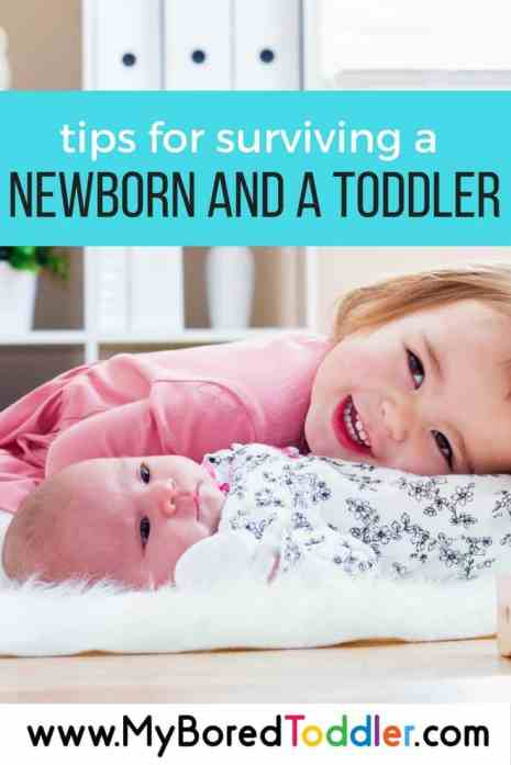 tips for surviving a newborn and a toddler pinterest