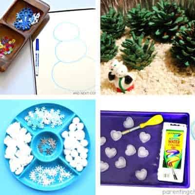winter sensory play toddler activities