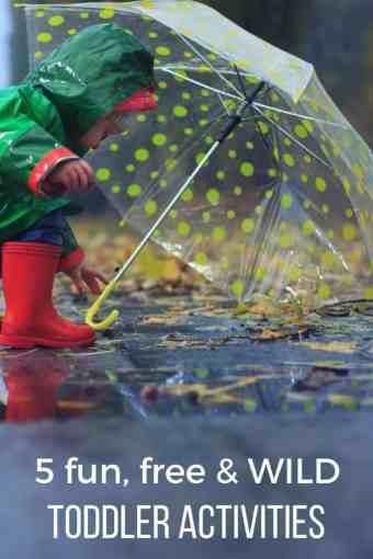 5 fun free & wild toddler activities pinterest