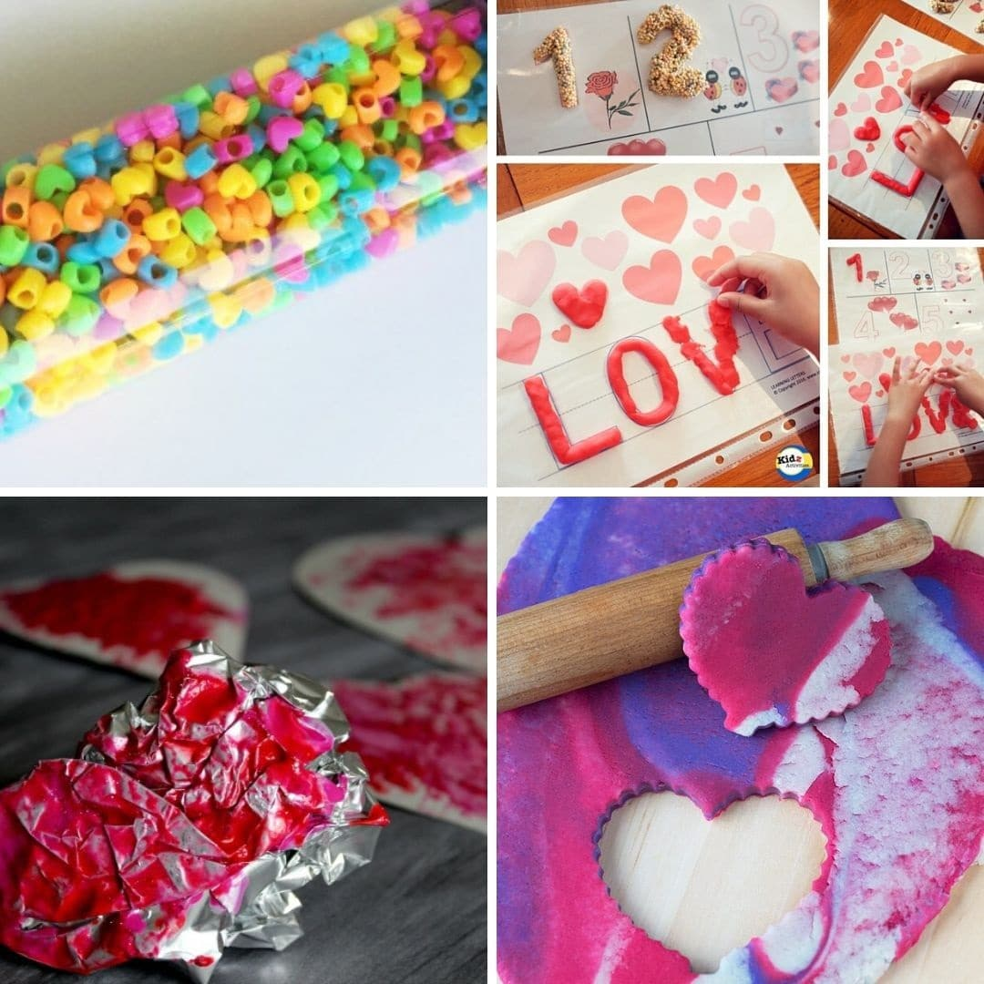 Toddler craft and activity ideas for Valentine's Day love easy and fun for toddlers 1 year old 2 year old 3 year old