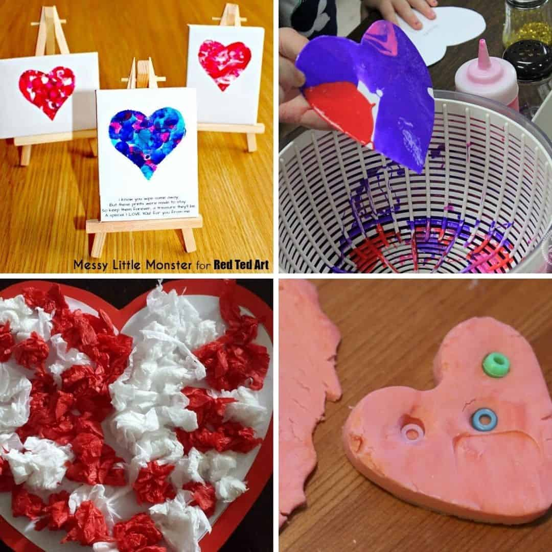 Valentine's Day craft ideas for toddlers - easy preschool and toddler Valentine's Day crafts and activities