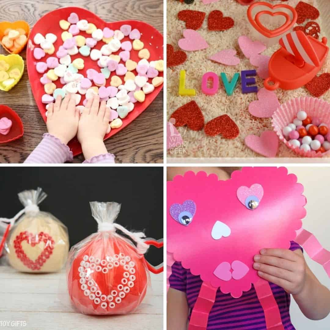 fun and easy todlder Valentine's day activity ideas to do at home