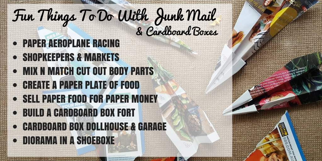 junk mail and cardboard boxes