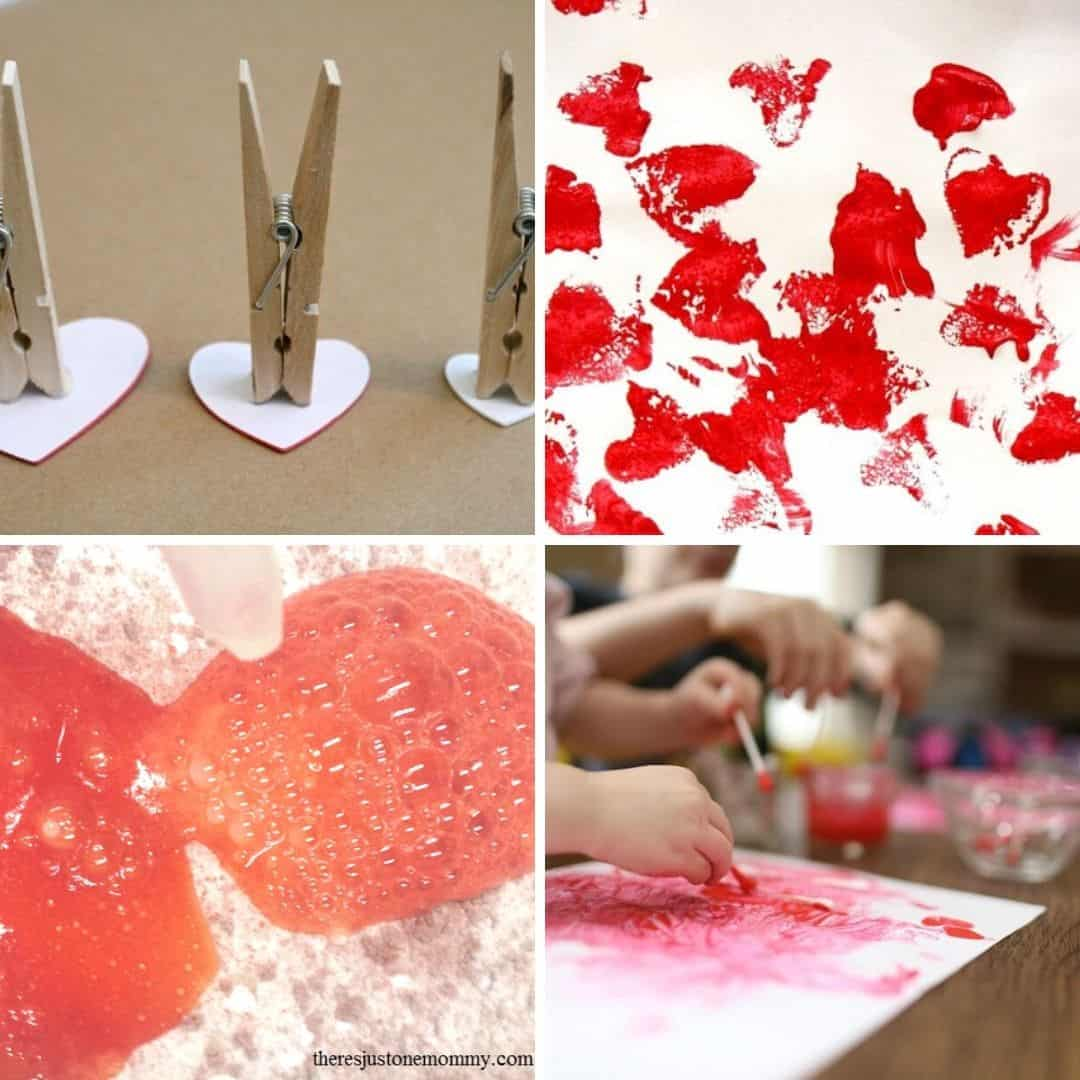 valentine's day craft ideas for toddlers - early learning ideas for Valentine's DAy