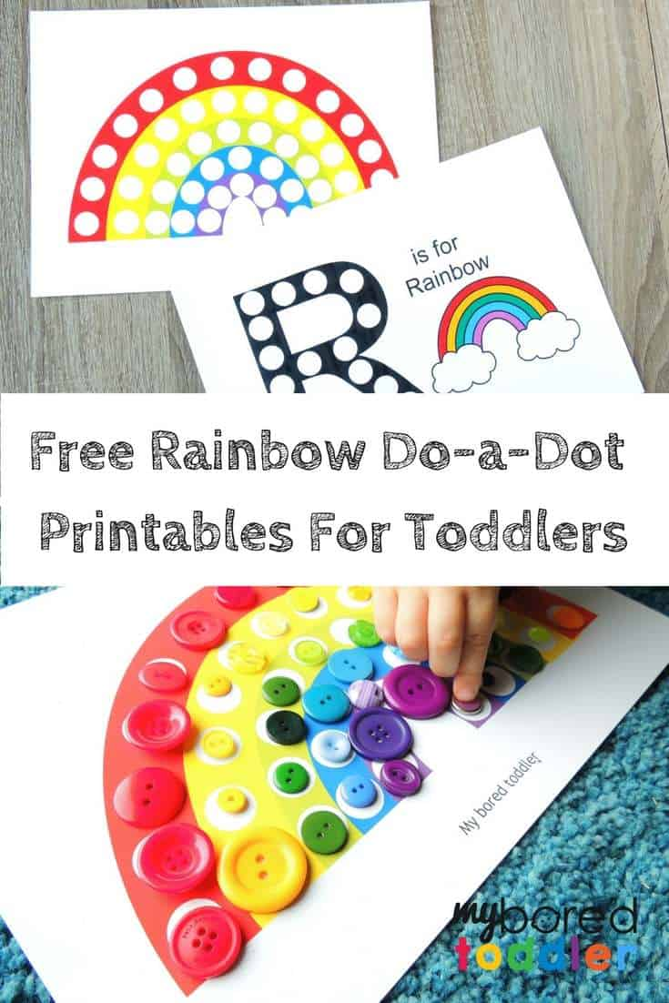graphic regarding Free Printable Rainbow identify Cost-free Printable Do-a-Dot Rainbow Sport - My Bored Infant