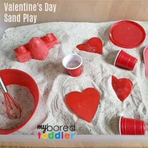Valentine's Day Indoor Sand Box for Toddlers