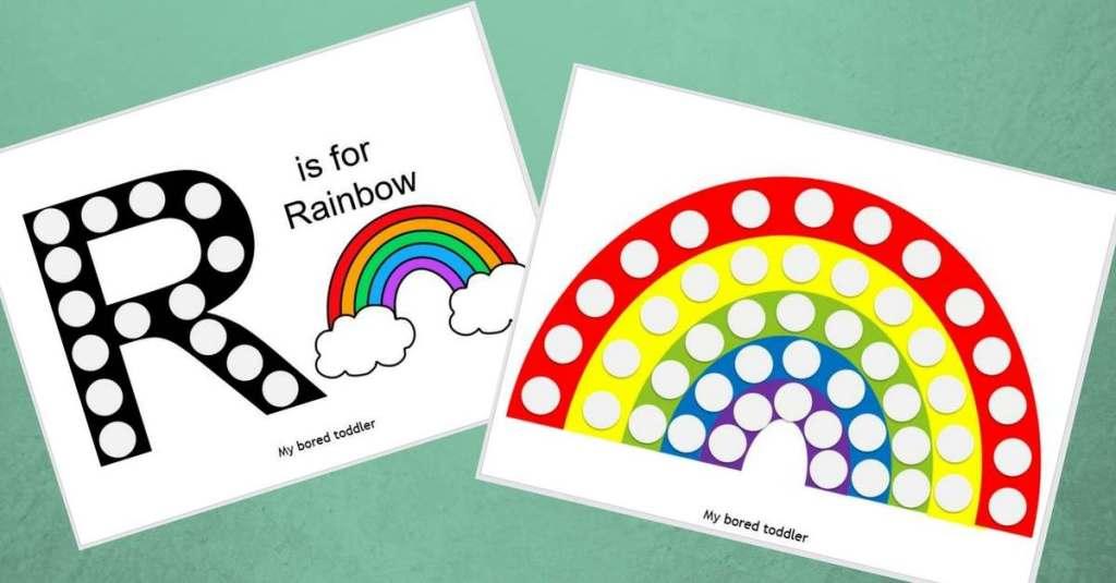 Free Printable Do-a-Dot Rainbow Activity