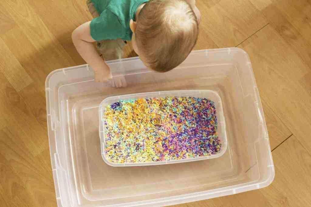 St Patrick's Day Sensory Play – Hunting for Leprechaun's Gold