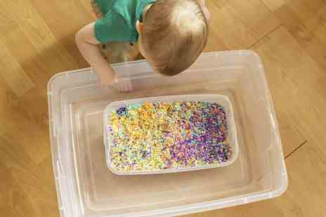toddler st patricks day sensory play activities and crafts rainbow rice