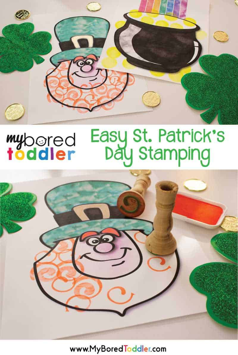 St. Patrick's Day Stamping Activity for Toddlers pinterest