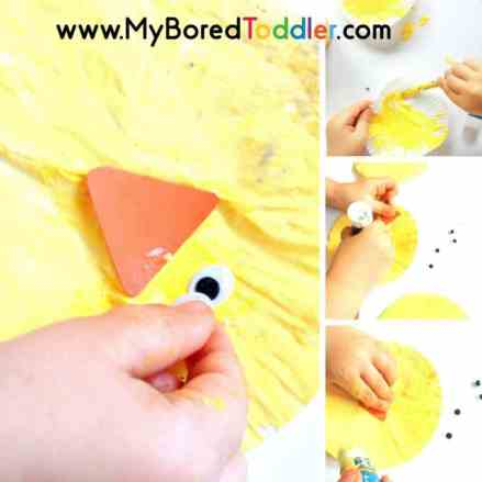 easy Easter Chick Craft step by step