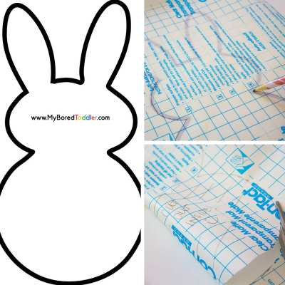 easy easter bunny painting activity for toddlers in process pics 1