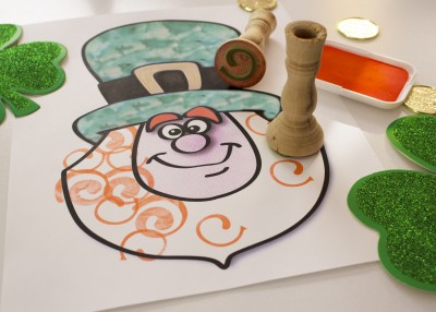 leprechaun stamping activity