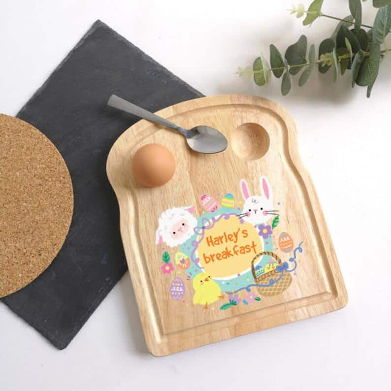 Dippy Egg Board - non chocolate Easter Gifts for Toddlers