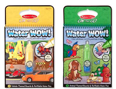 melissa and doug water wow books mess free art for toddlers
