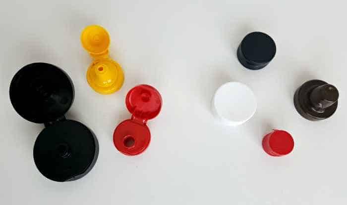 flip-top lids open and close