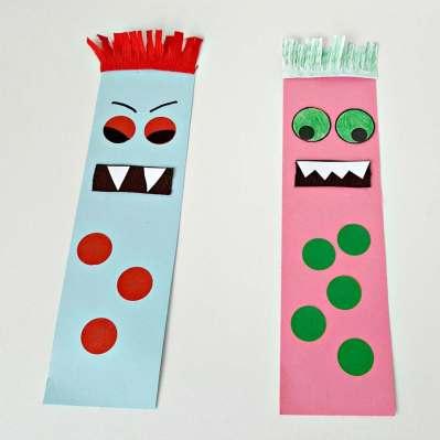monster bookmark craft square