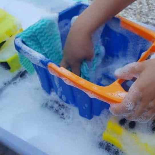 washing toys water play trucks