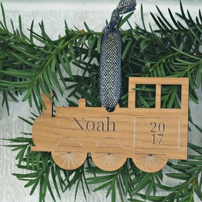 personalized wooden name ornament