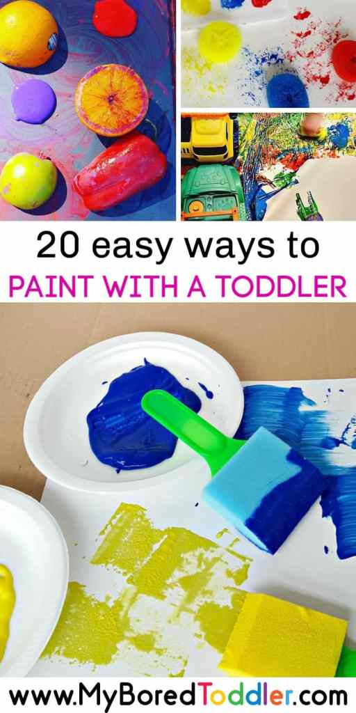 20 easy ways to paint with a toddler pinterest