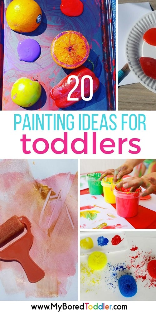 20 Toddler Painting Ideas - My Bored Toddler