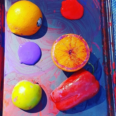 Painting with Fruit and Vegetables