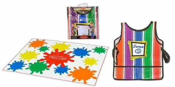 melissa doug dropcloth - toddler painting tips