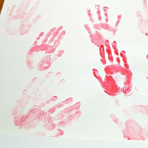toddler handprint painting activity
