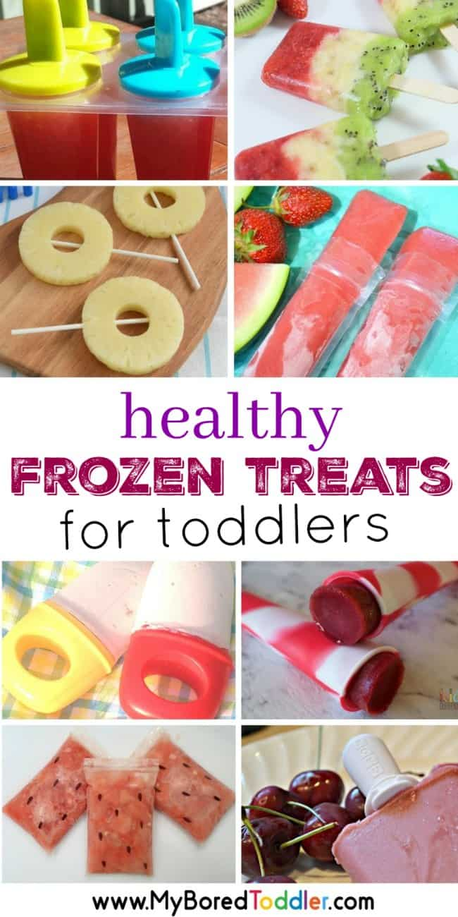 Healthy frozen treats for toddlers  - ice blocks, icy poles and popsicle recipes that are perfect for toddlers, babies and preschoolers. Healthy fresh fruit recipes that are perfect for a hot summer's day.