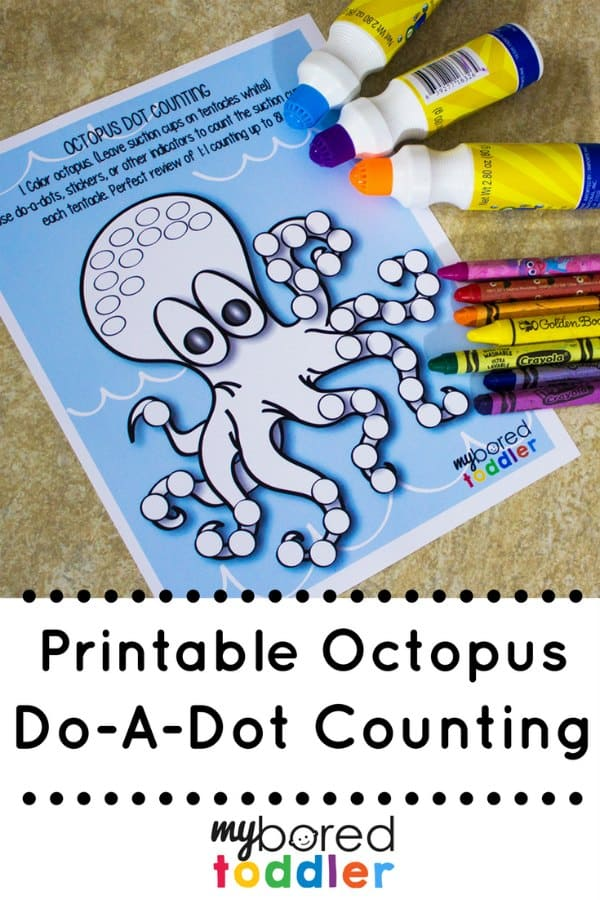 Octopus Do A Dot Painting Counting pinterest