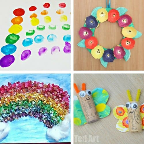 Spring Crafts for 2 and 3 year olds image 3