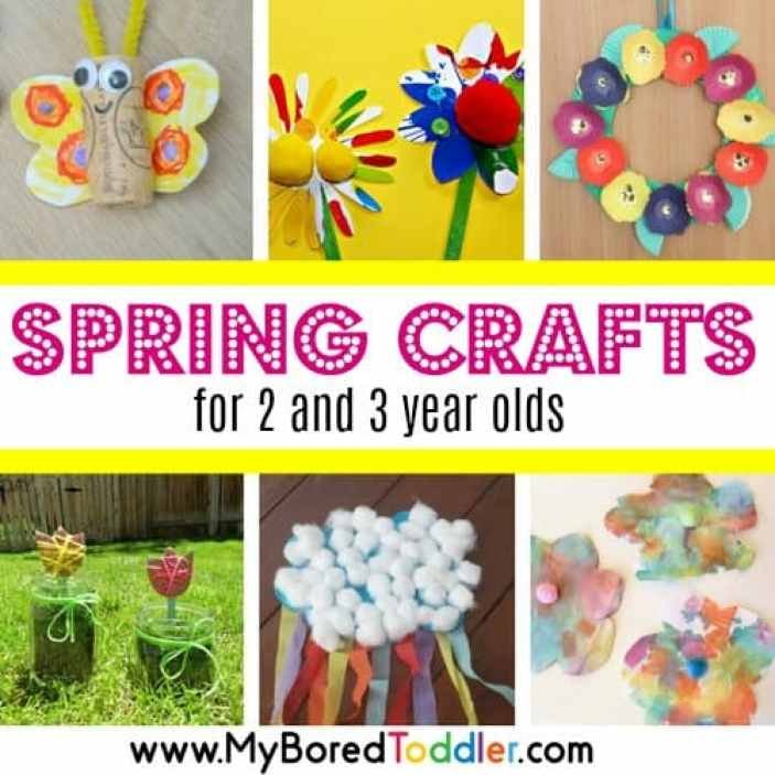 Spring Crafts for 2 and 3 year olds square feature