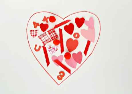 Valentine collage toddler art activity
