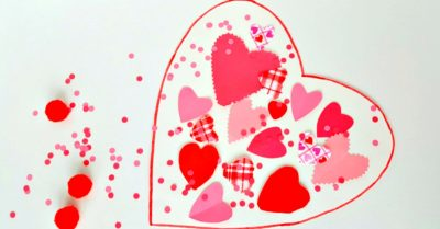 valentine collage activity for toddlers