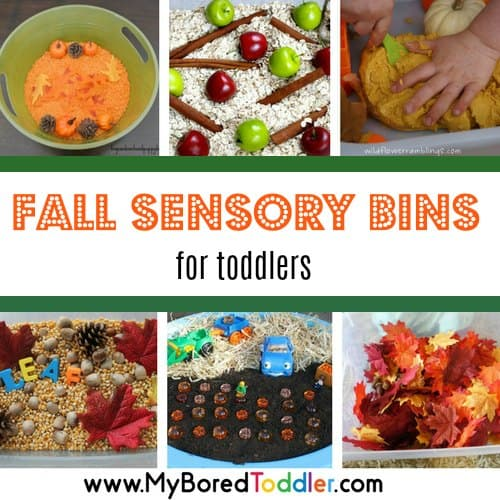 fall sensory bins for toddlers square