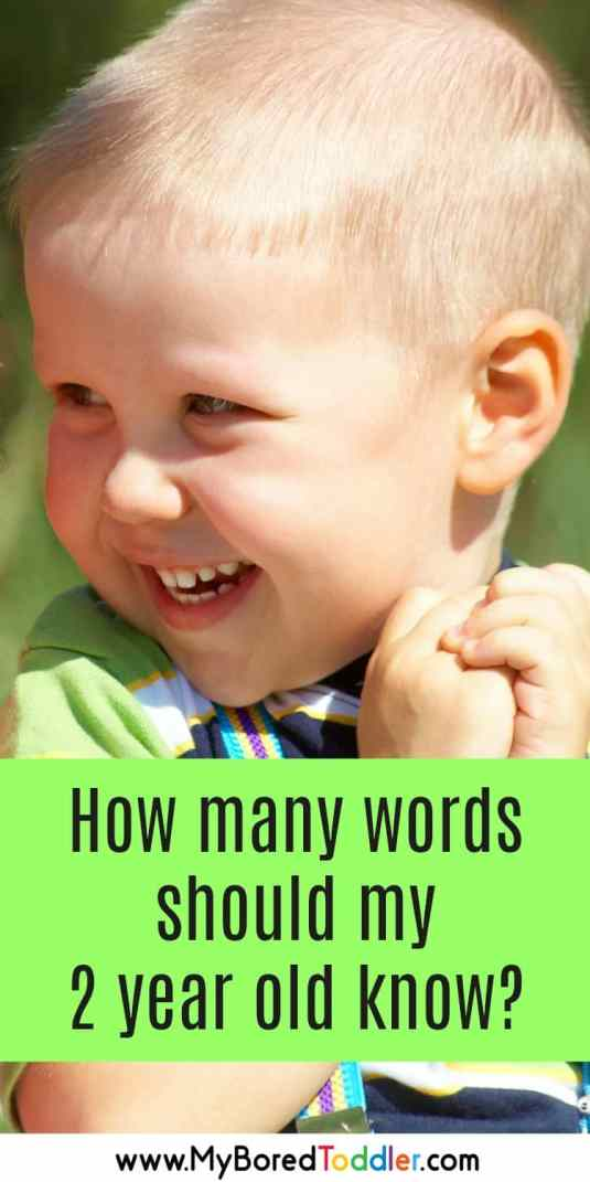 how many words should my 2 year old know pinterest