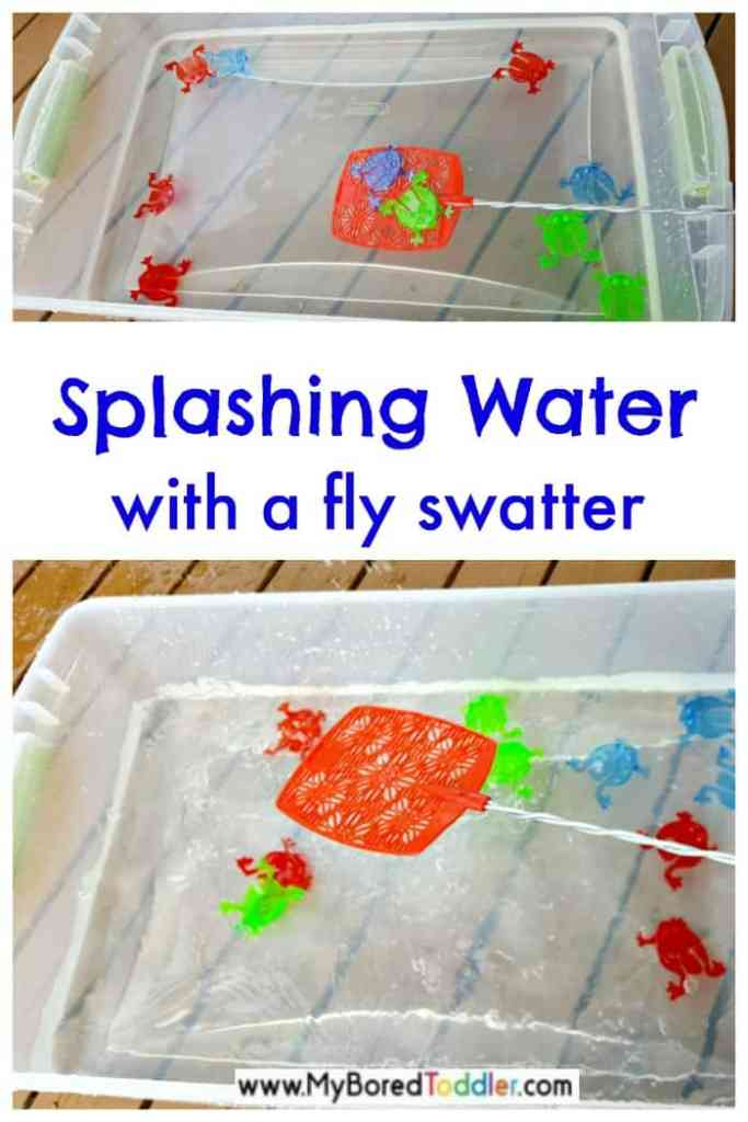 Water Play with Fly Swatters