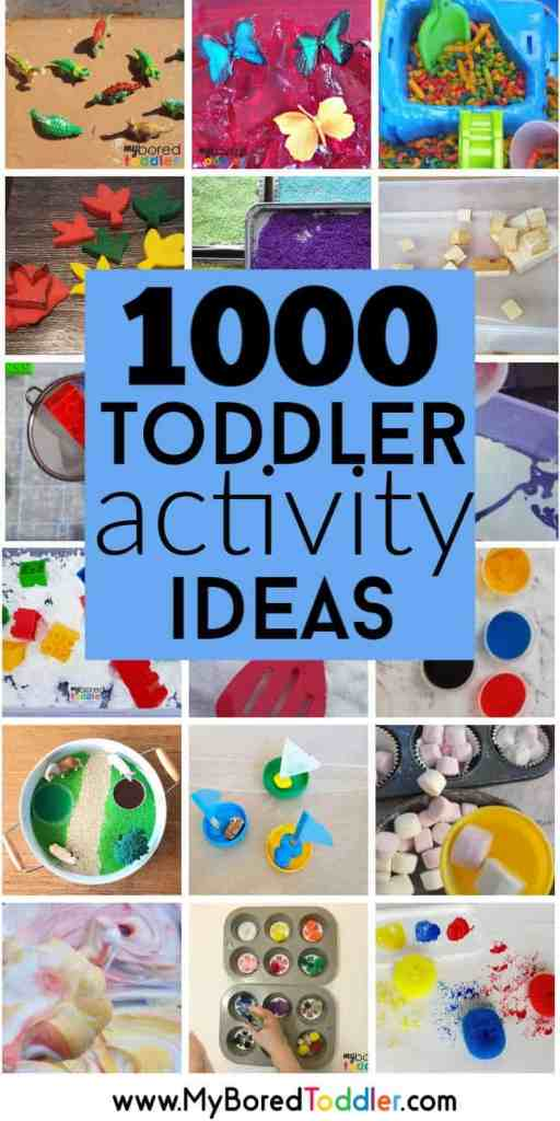 1000 toddler activity ideas for parents to do at home