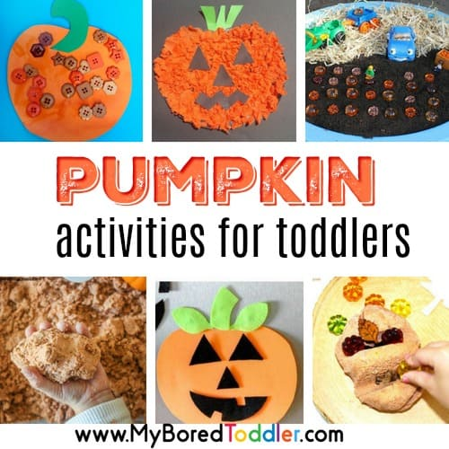 Pumpkin themed activities for toddlers – Fall and Halloween!