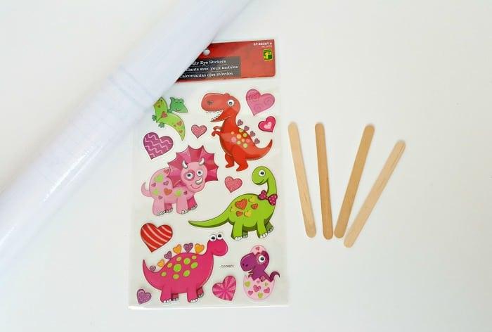 Supplies for craft stick puppets