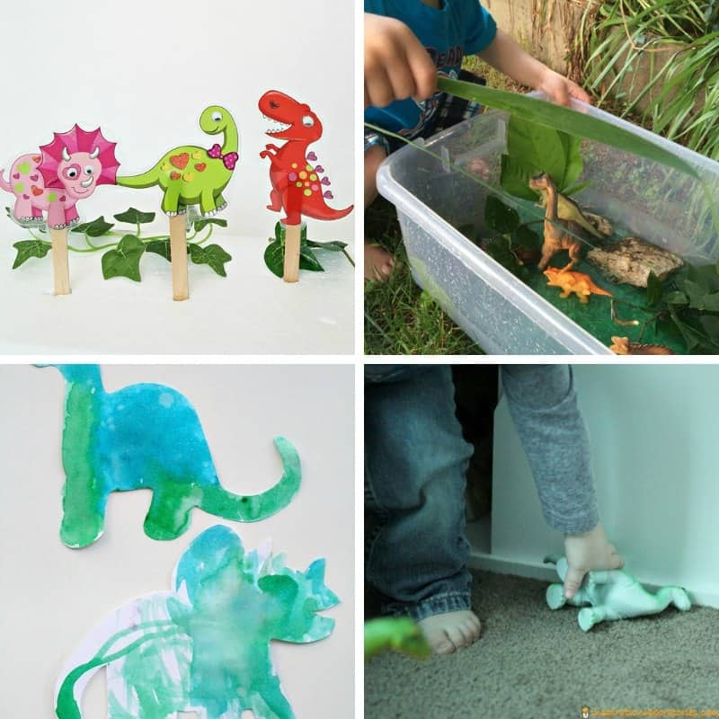 dinosaur themed activities for 2 and 3 year olds toddlers preschoolers