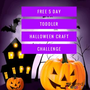free toddler halloween craft challenge