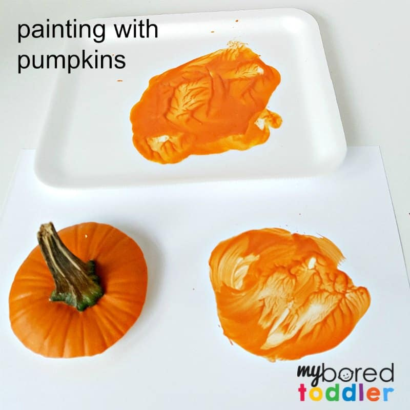 Painting with Pumpkins Toddler Activity
