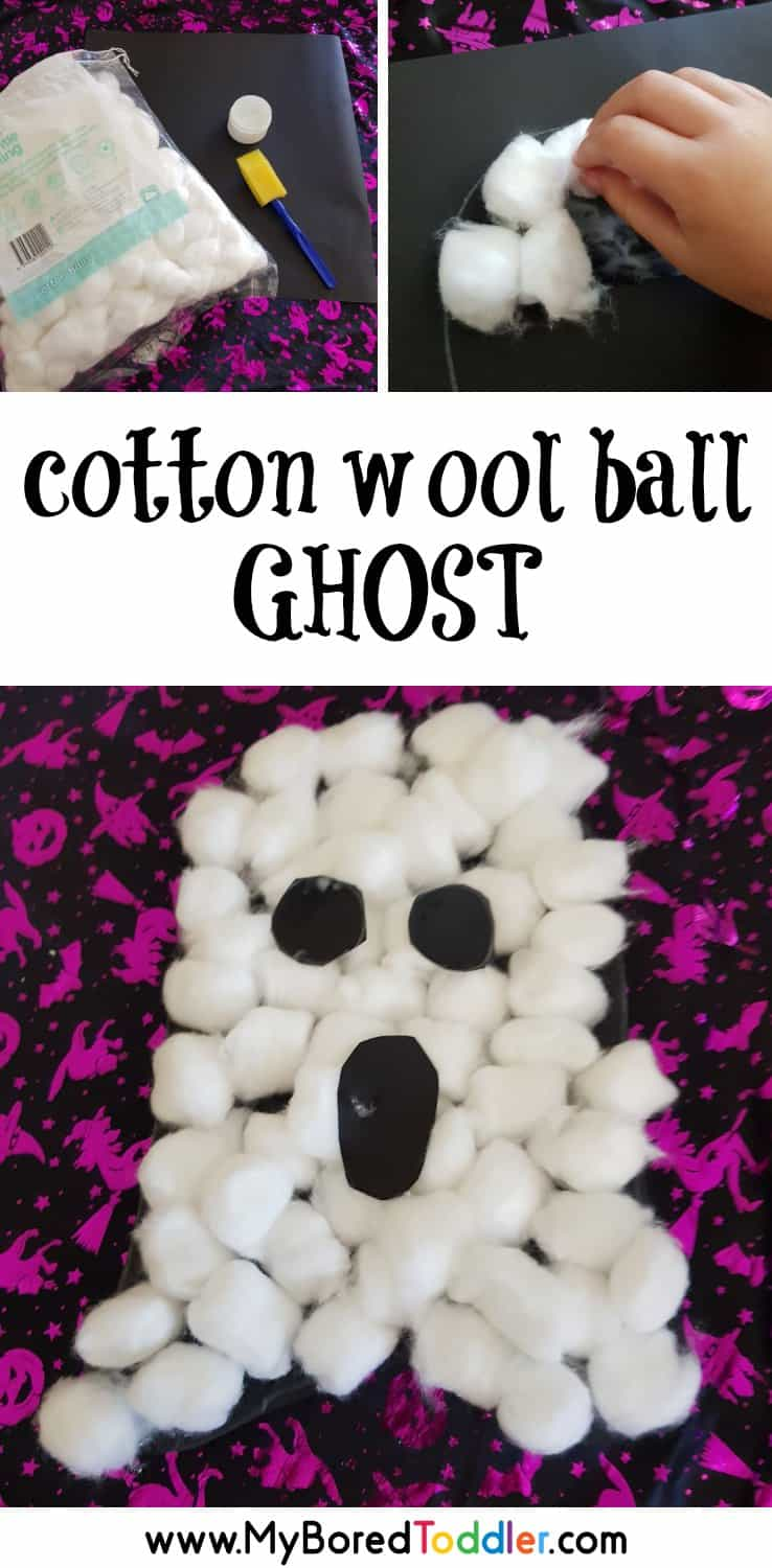 cotton wool ball ghost craft for toddlers pinterest